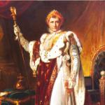 Napoléon en grand habillement de sacre.